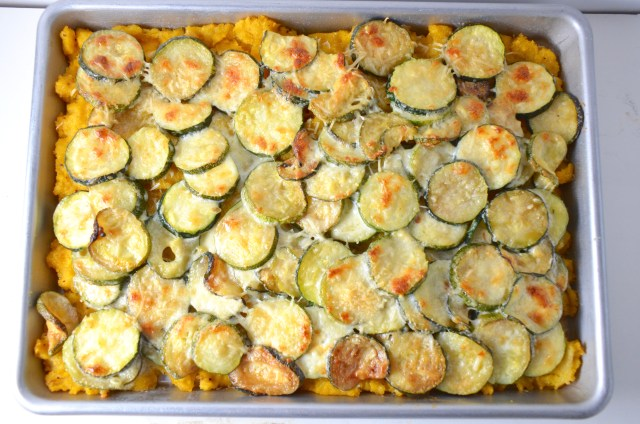 Creamy Zucchini And Polenta Tart