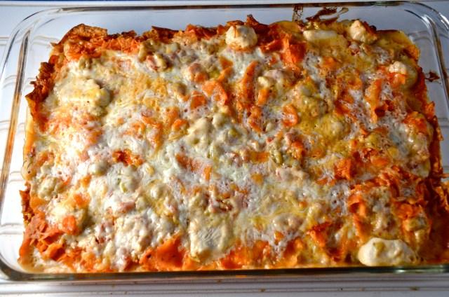 crunchy nacho cheese chicken casserole