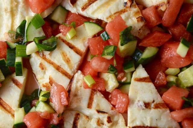 Grilled Halloumi With Watermelon Salsa
