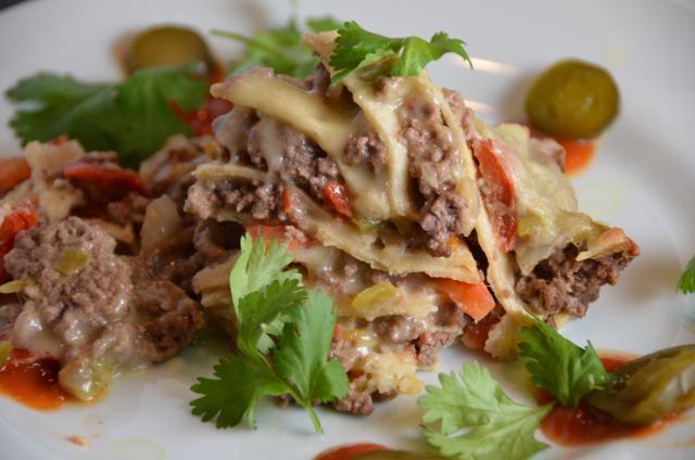 New Mexico Stacked Enchiladas