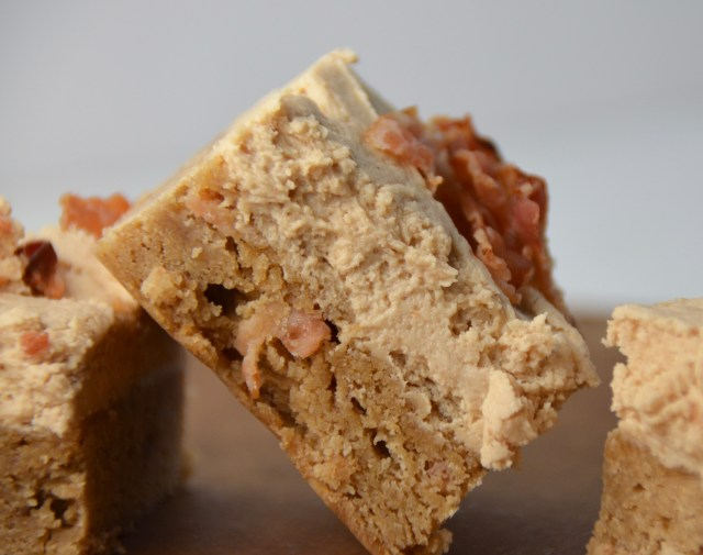 Peanut Butter And Bacon Blondies