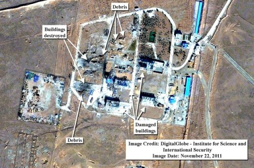 Iran missile base explosion