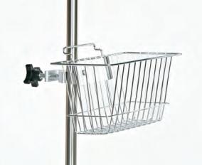 Wire Basket; I.V. Pole Accessory; 6