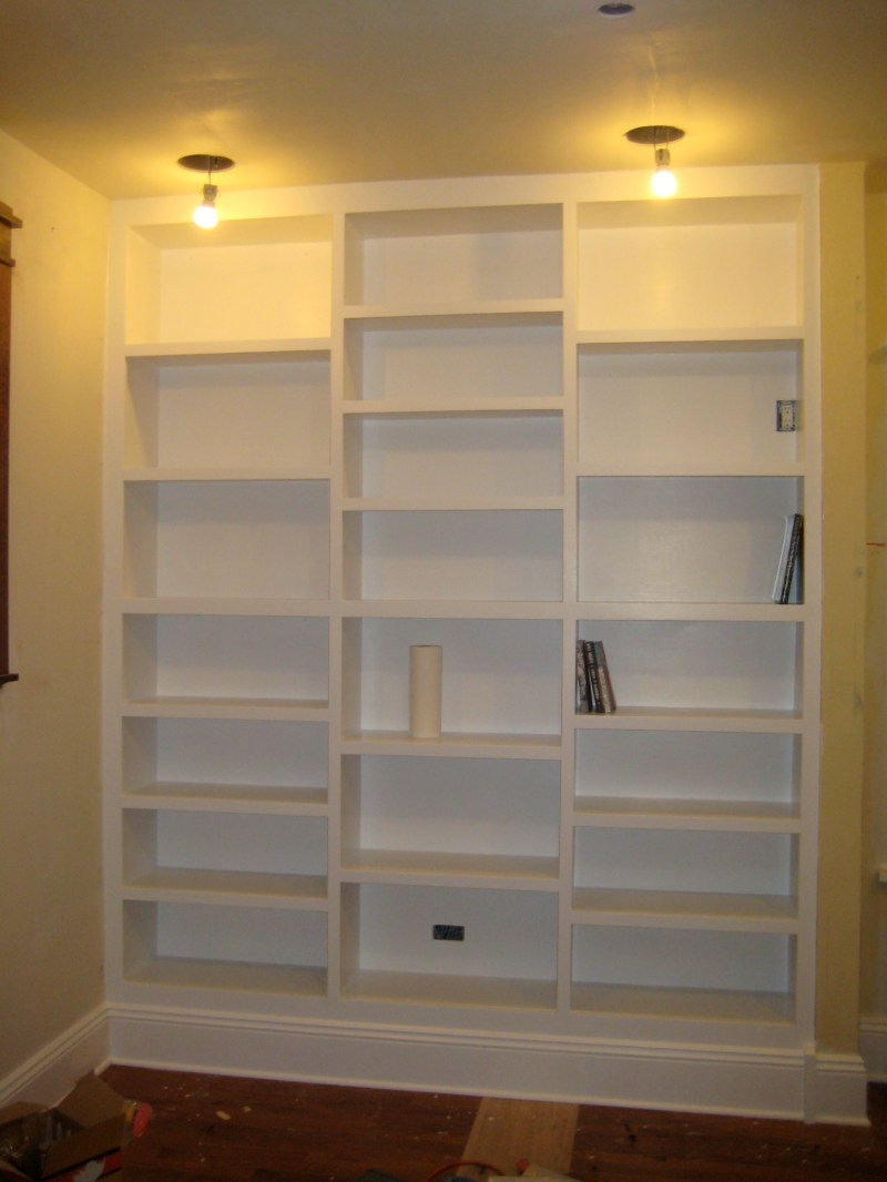 Bookshelf with Built in Cabinets