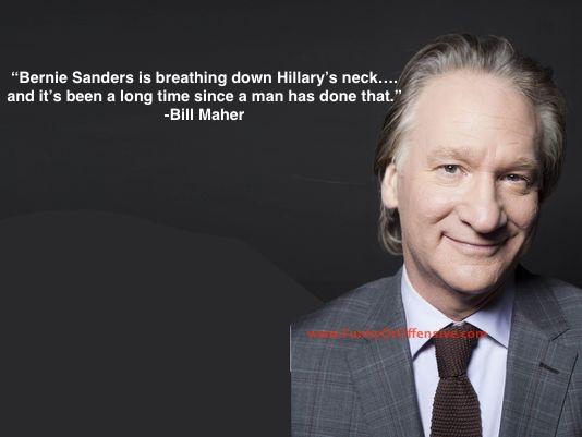 Bill Maher on Bernie and Hillary