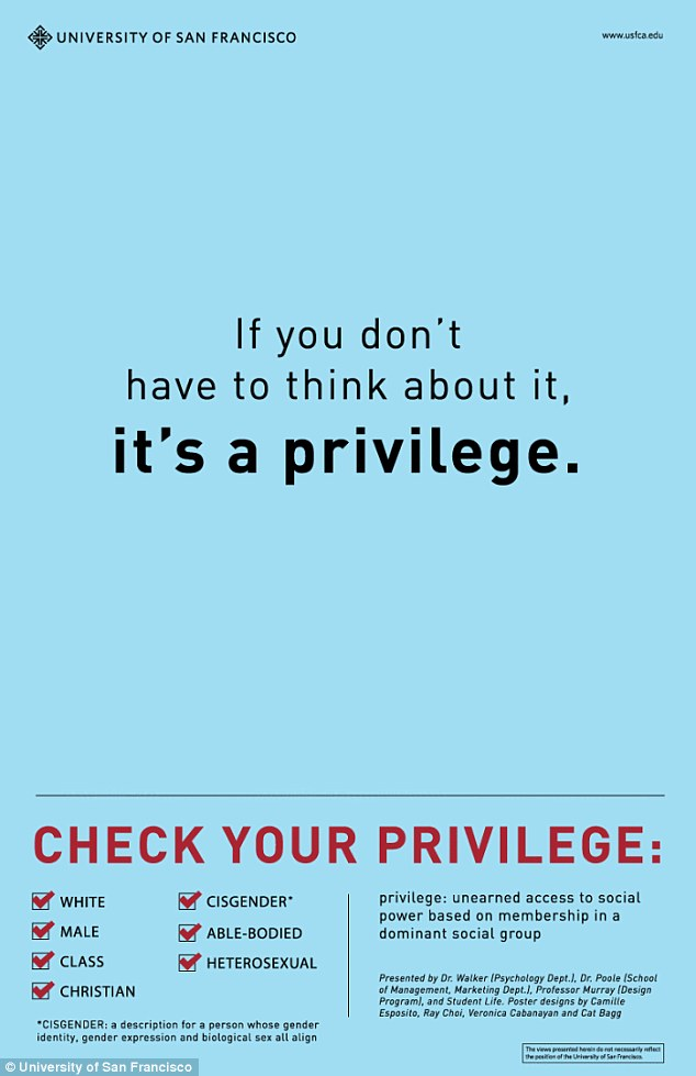 """""""Check Your Privilege"""" Posters Outrage College Students"""