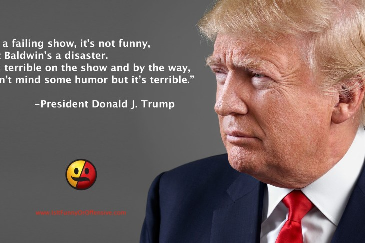 President Donald Trump on Saturday Night Live and Alec Baldwin