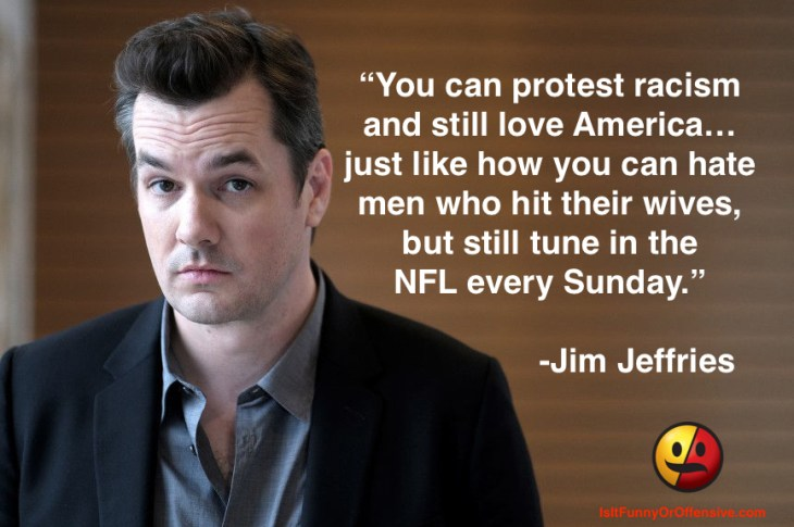 Jim Jeffries on NFL Protests
