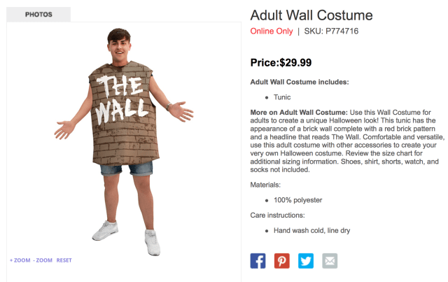 """The Wall"" Halloween Costume Causes Uproar"