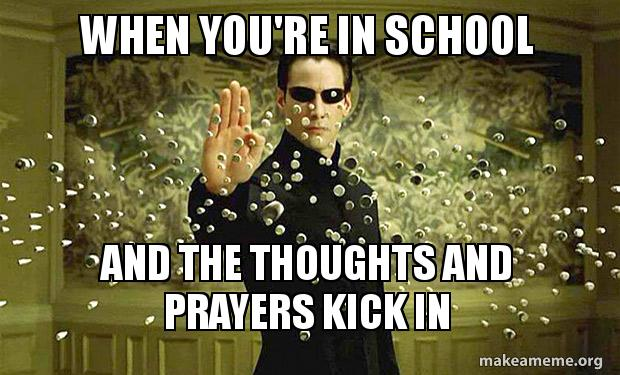 "Internet Revolts Against ""Thoughts and Prayers"" With Meme Frenzy"