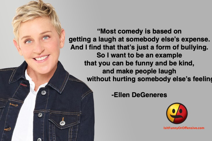 Ellen DeGeneres on Comedy