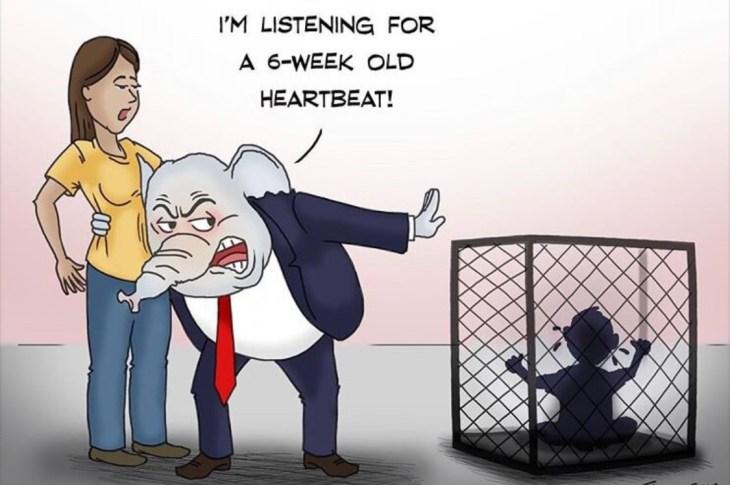 Cartoon Juxtaposes Abortion and Immigration Debate
