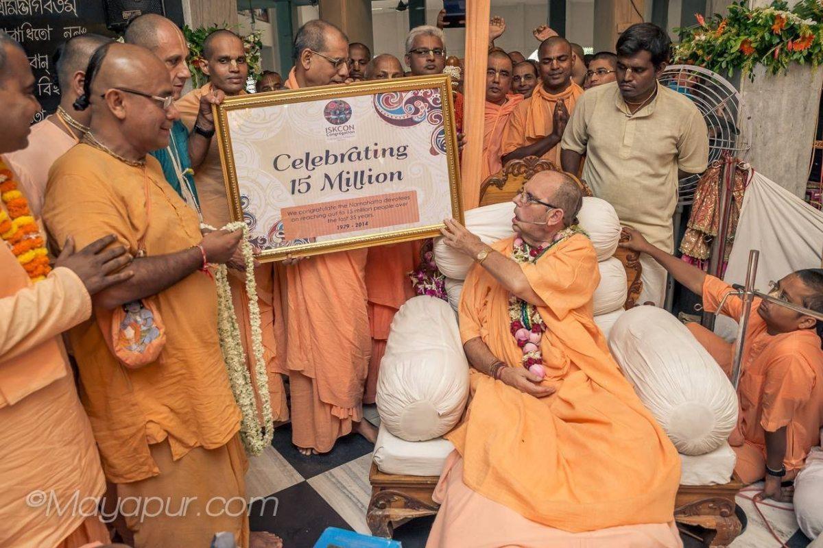 ISKCON Namahatta in Mayapur reaches 15 Million   ISKCON Bangalore