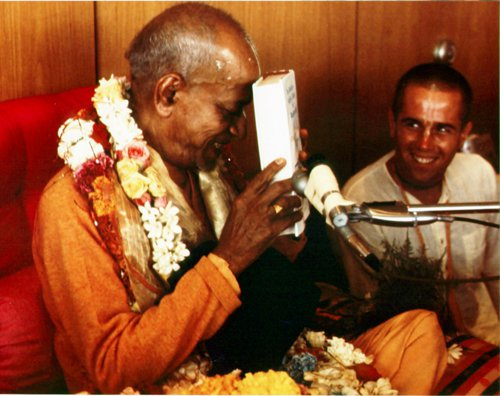 Prabhupada With Books