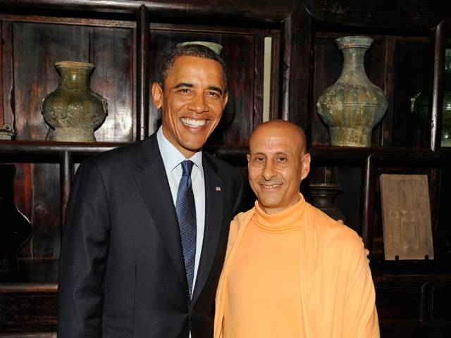 Radhanath Swami and President Obama