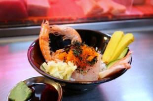 【基隆仁愛市場-生魚片-早餐美食】黑面鯊魚煙阿玉,超料味噌湯20元+生魚片蓋飯