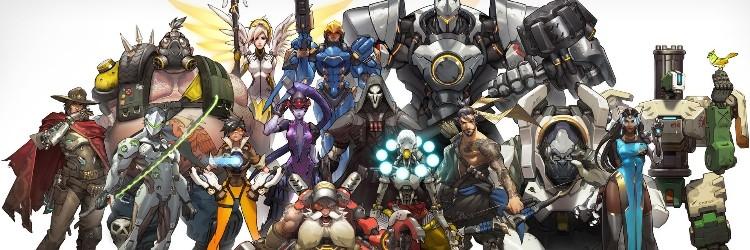 El plantel de personajes de Overwatch