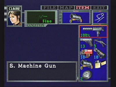 Resident Evil 2 inventario