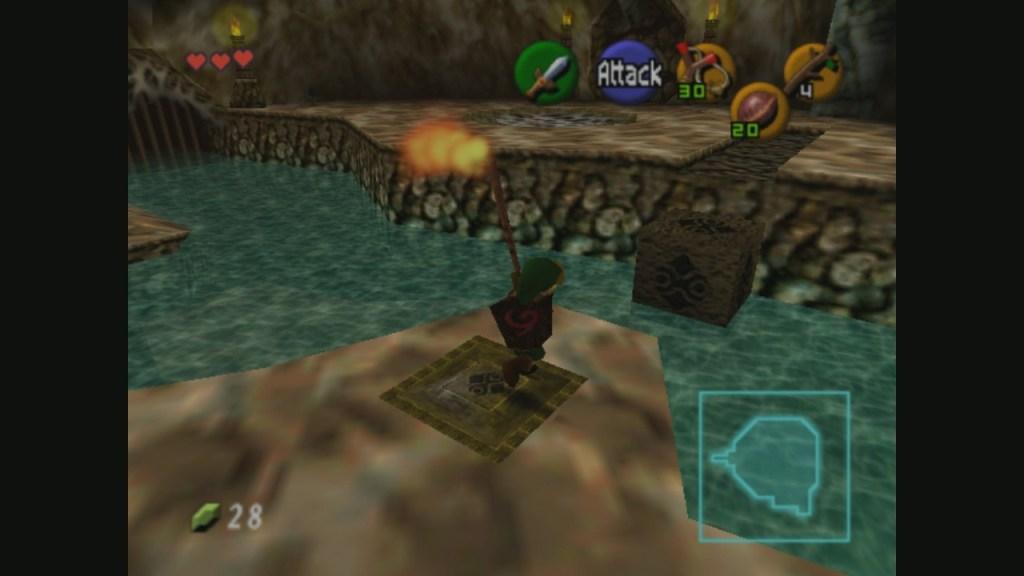 Link en una mazmorra