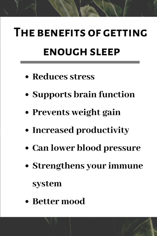 benefits of getting enough sleep