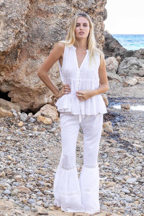 Flair Pants Lace - White