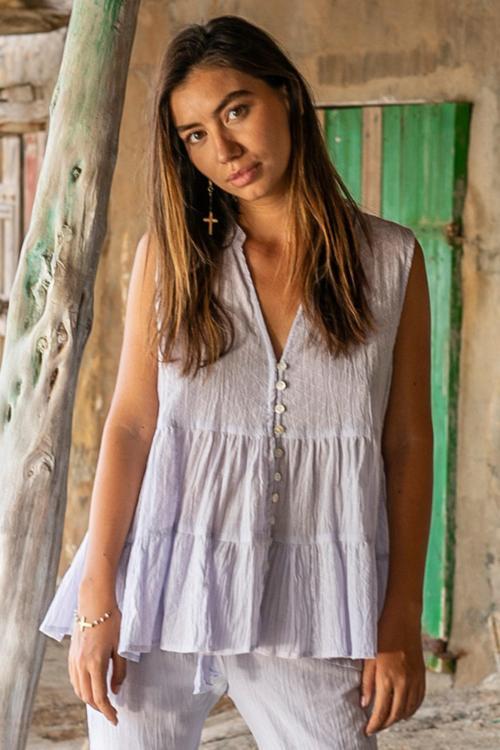 Sleeveless Blouse Summer Lila - Purple
