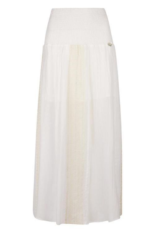 Embroidered Maxi Skirt – White