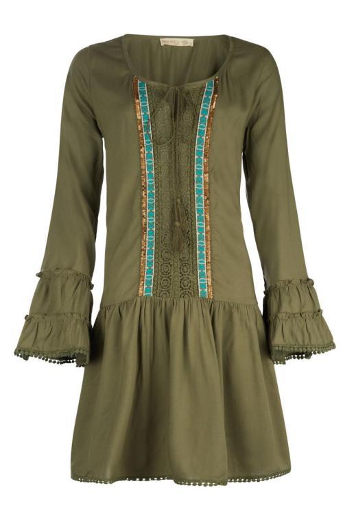 Short Dress Khaki - Green