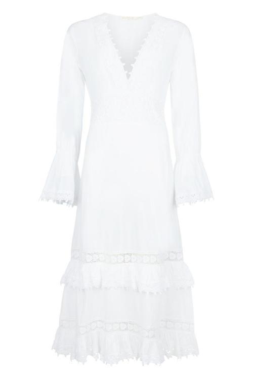 Maxi Dress Lace Summer – White