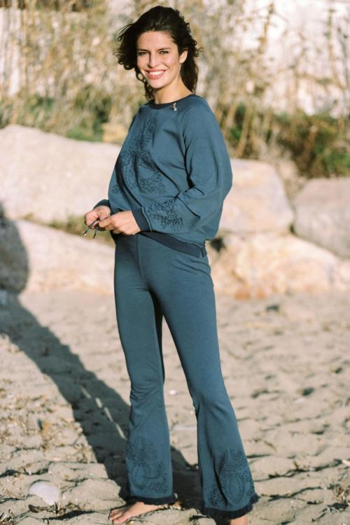 Flair Trousers Salines - Blue