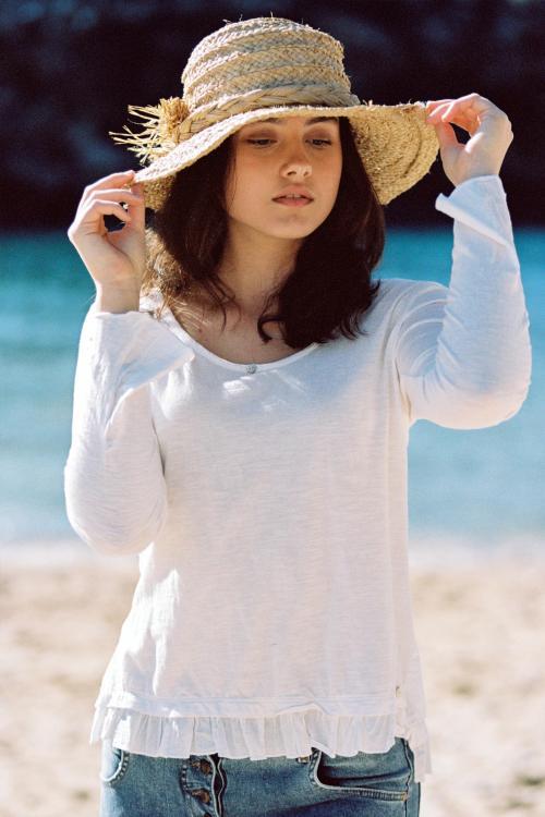 Long Sleeve T-Shirt Gracio - White