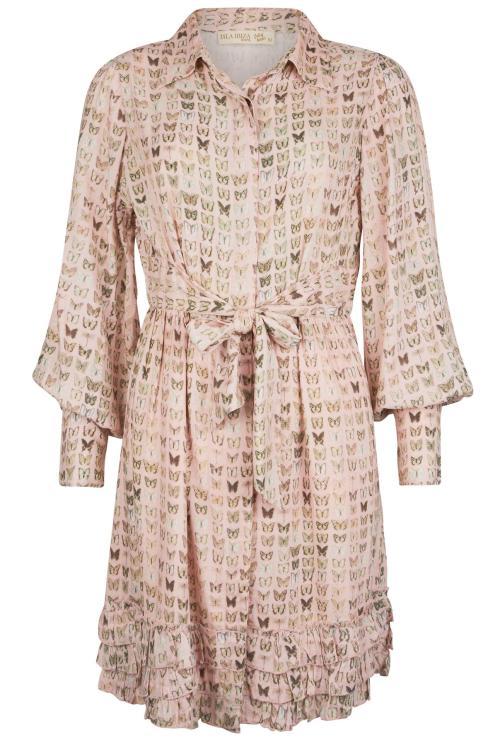 Short Dress Lovely Butterflies - Pink