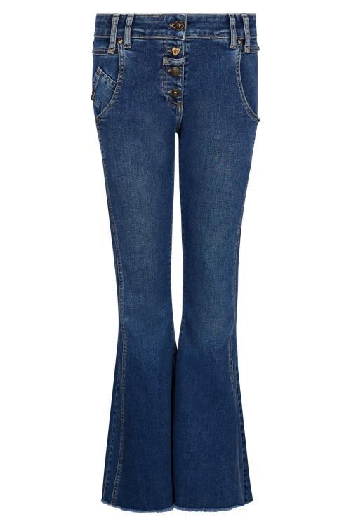 Flared Jeans Dark Denim – Blue