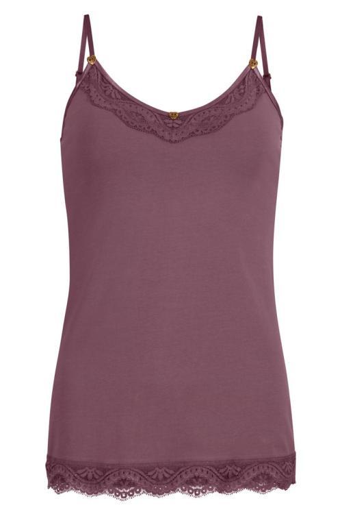 Laced Short Singlet - Purple