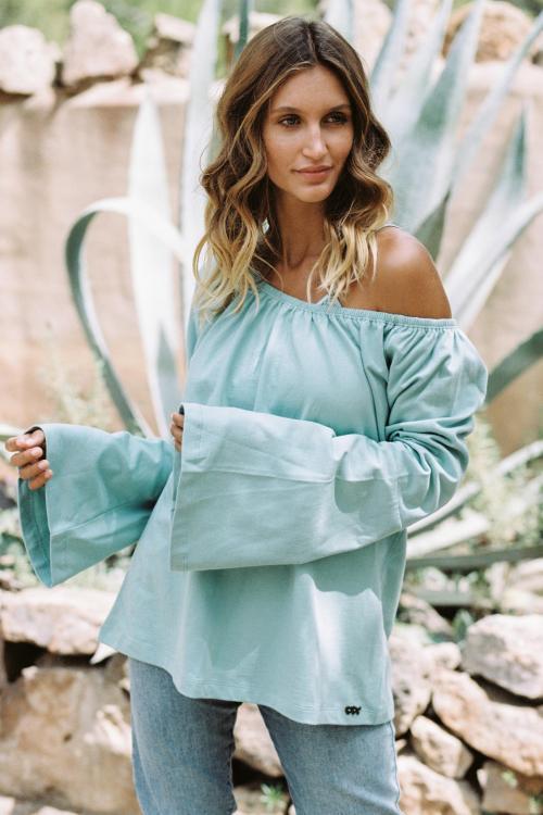 Boho Sweater San Rafael - Turquoise