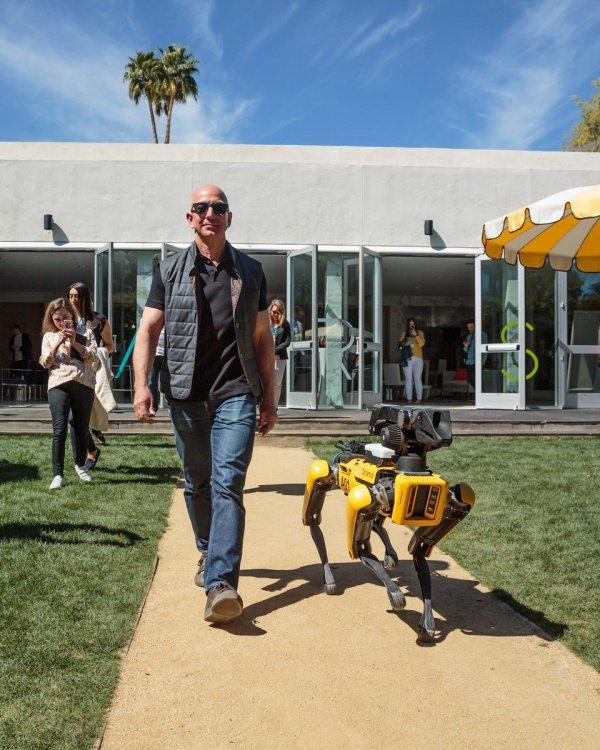 Робопес с которым миллиардер из США вышел на прогулку прославился примерно месяц назад