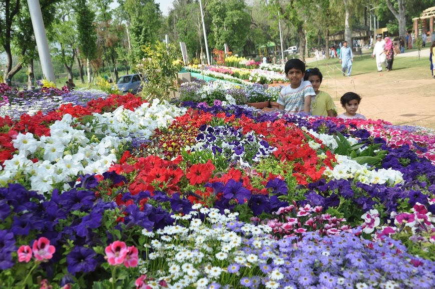 Kids in Rose and Jasmine Park in Islamabad
