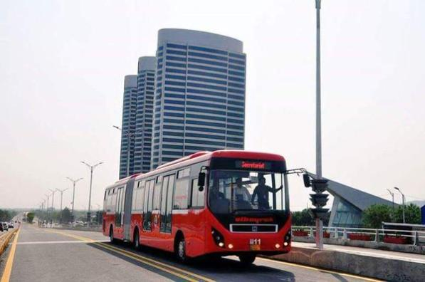 Metro Buses finally hit the roads in Islamabad.