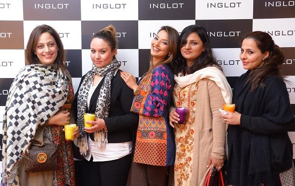 Guests at the launch of Inglot Cosmetics in Islamabad