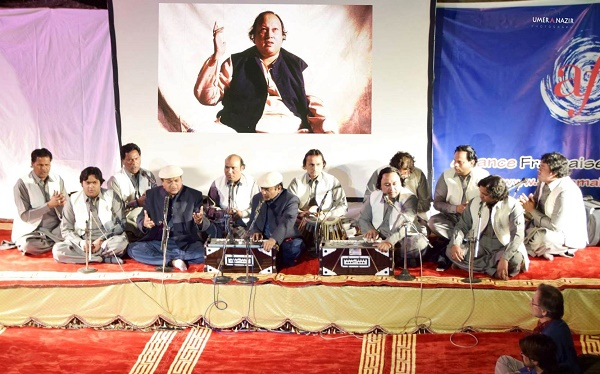 Qawwali evening in Islamabad to pay tribute to legendary Qawal Nusrat Fateh Ali Khan. Photo: Facebook page of Alliance Française d'Islamabad