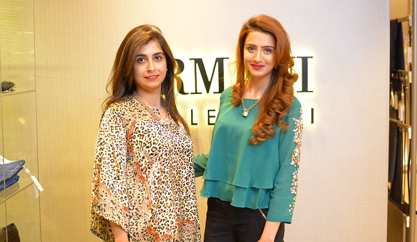 Aneela and Arifa at the launch of Armani Collezioni Store in Islamabad