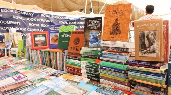 Books at Literature Festival in Islamabad. Photo: Sana Jamal