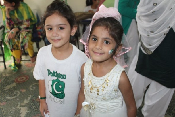 Kids celebrate Independence Day at Hashoo Foundation in Rawalpindi
