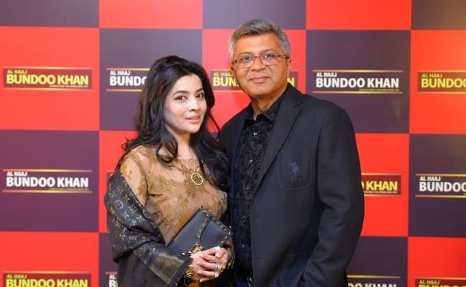 "Restaurant owners Nadia and Asher at the launch of ""Al Haaj Bundoo Khan Restaurant in Islamabad"