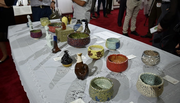 Ceramic handicrafts on display at at China Cultural Heritage Week exhibition in Islamabad on 7 July 2017. Photo: Zhu Dan