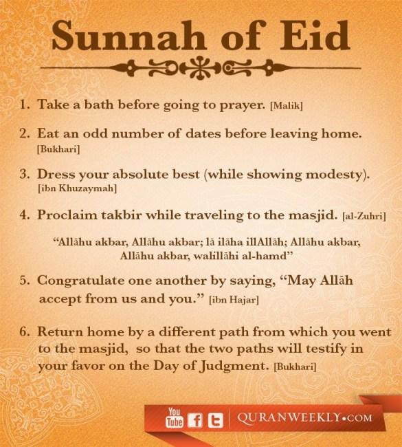 Sunnah S Of Eid Islam The Religion Of Peace