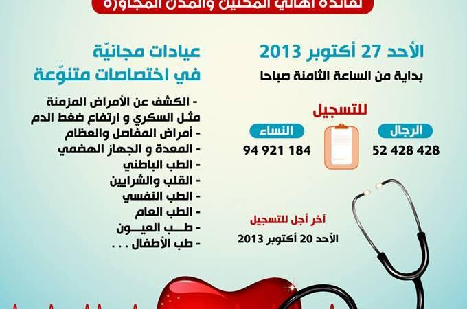 جمعية أبي القاسم الزهراوي الطبية : قافلة طبية لأهالي المكنين