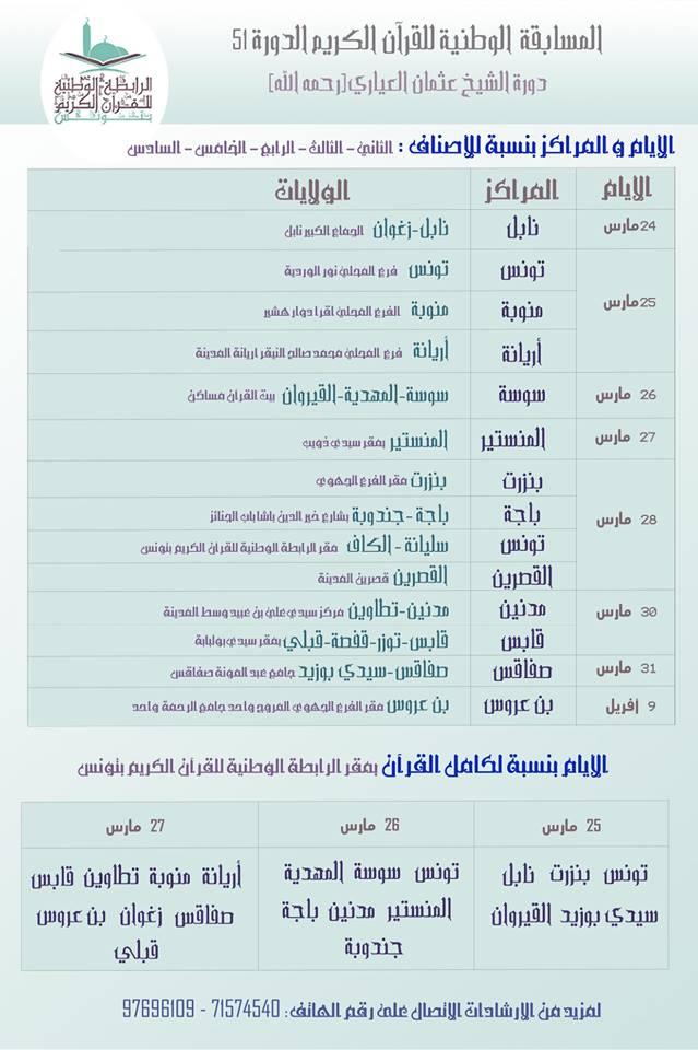 المسابقة الوطنية للقرآن الكريم الدورة 51 الشيخ عثمان العياري