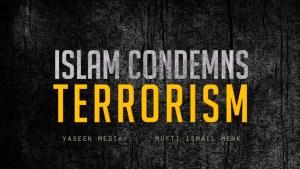 #notinmyname.Islam condemn terrorism