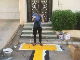 special footpath for blind man